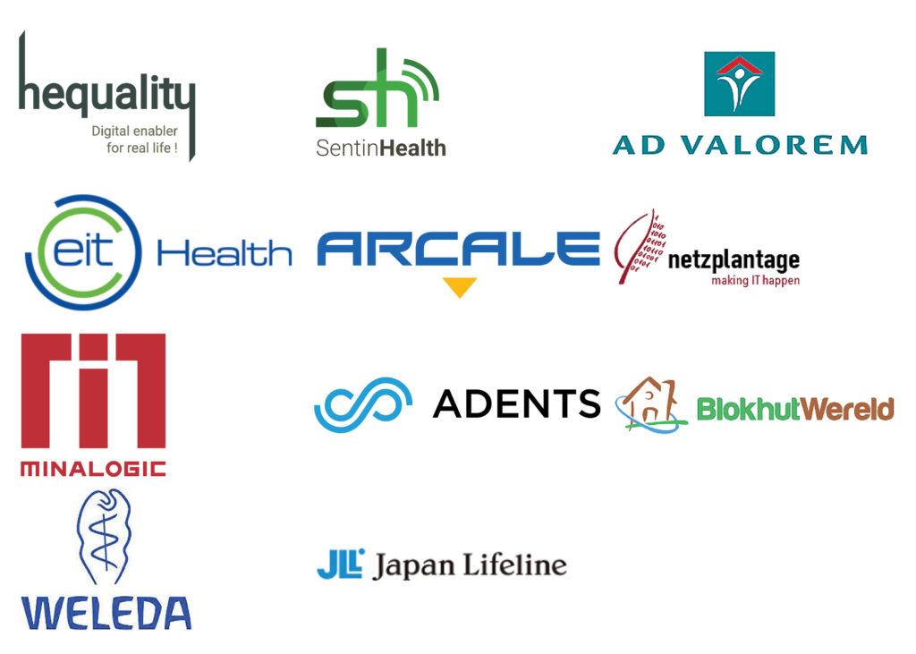 corporate clients: Hequality, Sentinhealth, Ad Valorem, EIT Health, Adents, BlokhutWereld, Weleda, JapanLifeline